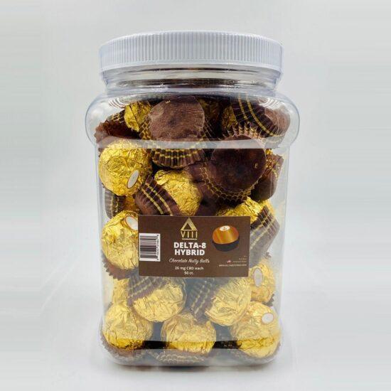 VIII Delta-8 Hybrid Chocolate Nutty Balls 20mg 50ct