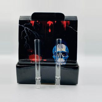 4″ Clear Glass One Hitter Pipe 48ct