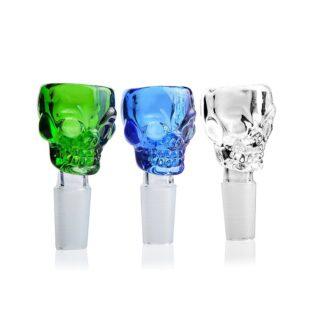 Colored Glass Skull Bowl