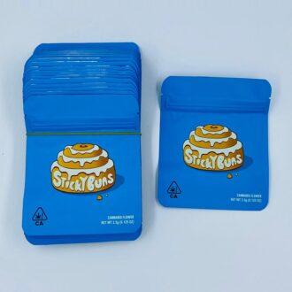 Cookies Sticky Buns Bag 8x12cm 3.5 Grams 1/8oz 50ct