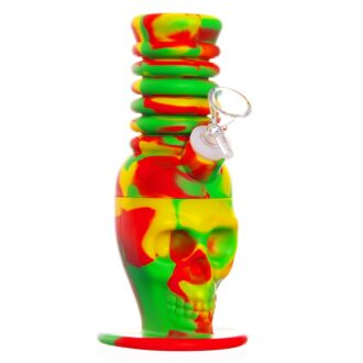Extendable Skull Silicone Bong