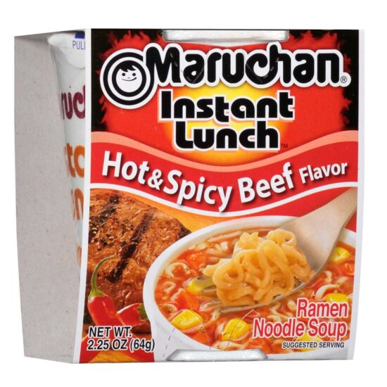 Maruchan Cup Hot Spicy Beef 12ct 2.25oz
