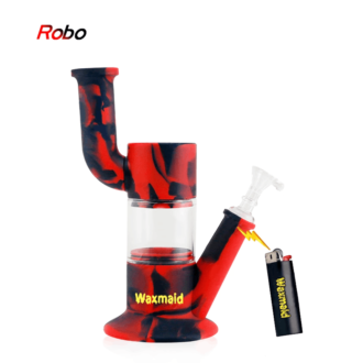 Print Robo Silicone & Glass Hybrid Water Pipe