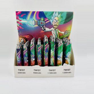 Rick And Morty Twist Variable Voltage Batteries 3.3v-4.8v