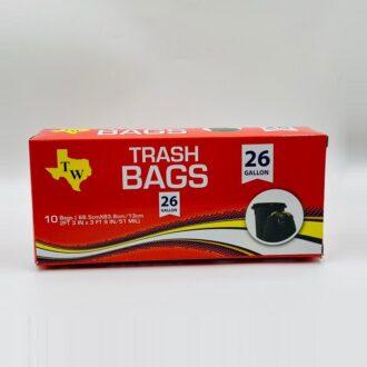 Tw Trash Bag 26gl 10ct