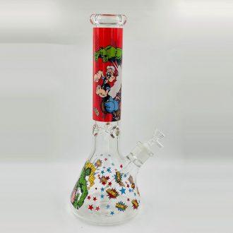 14'' Hulk Vs Popeye Glass Water Bong