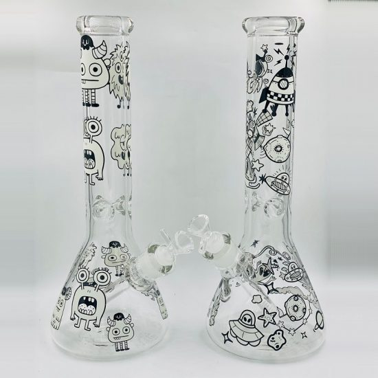 14'' Infynity Graphic Glow In The Dark Water Pipe