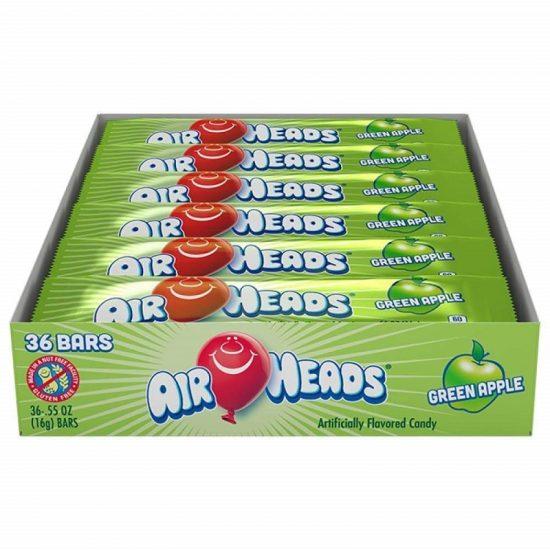 Airheads Green Apple 0.55oz 36ct