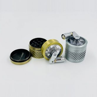 Mini 4-Layer Tobacco Grinder With Handle