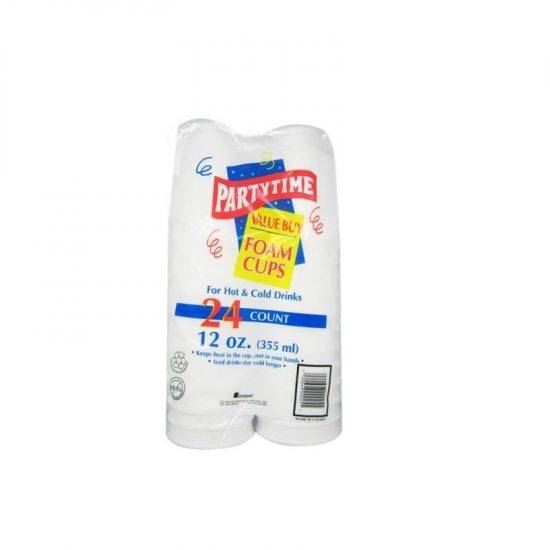 Partytime Foam Cup 12oz 24ct