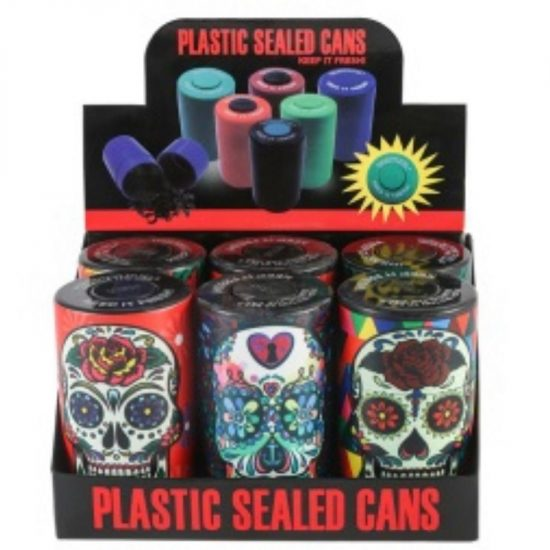 Plastic Sealed Cans Assorted Design