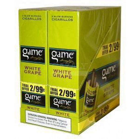 Game Cigars White Grape 2 For 0.99 30ct 2pk