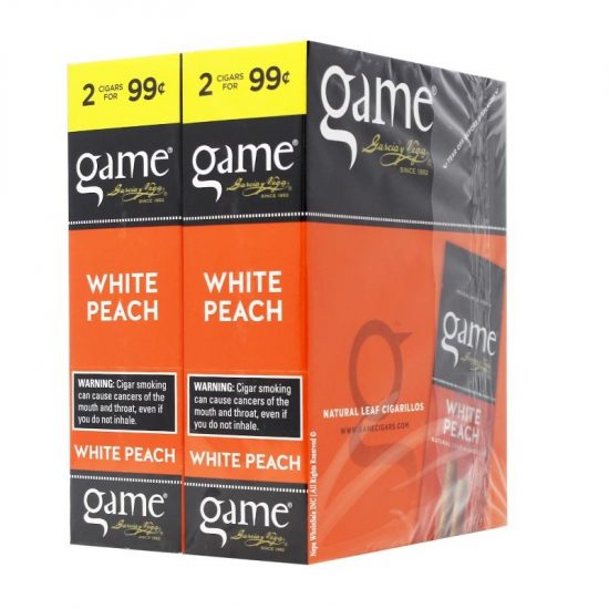 Game Cigars White Peach 2 For 0.99 30ct 2pk