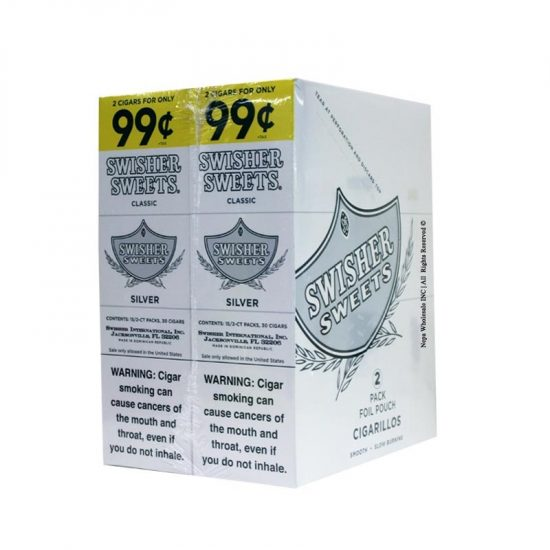 Swisher Sweets Cigarillos Silver S02 30ct 2pk