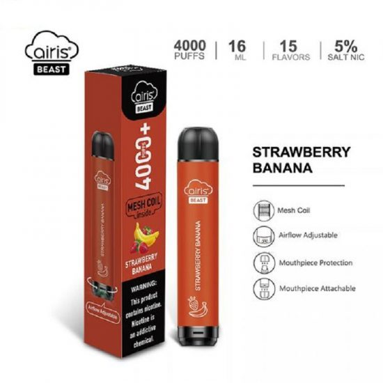 Airis Beast Strawberry Banana 4000+ Puffs
